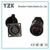 Waterproof material 9 pin dust plug and socket cable connector 9 pin waterproof material plug