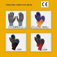 cheap latex coated work gloves