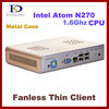 HTPC, Mini Desktop PC Thin client with Atom N270 1.6Ghz, 2GB RAM, 8GB SSD supported Window XPE