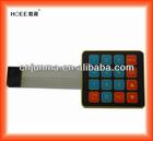 16 keys membrane switch keypad