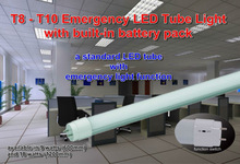 18w BrightLux LED Emergency Tube Light with built-in battery pack