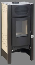 Wood burning steel stove with duble walls and air heater