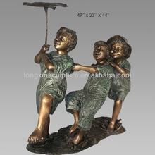 Alibaba China Children Statue Three Children Playing Bronze Garden Sculpture