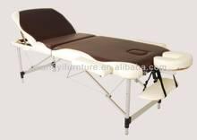 GuangYi 3-section 2-colors aluminum portable adjustable massage table-masa de masaj Massage talahanayan