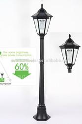 solar post lights for garden/patio/yard lighting 1.37m /31pcs of led high pole solar led garden lights IP44 CE ROHS