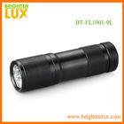 Cheap mini gift flashlight aluminum promotional 9led flashlight
