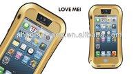 LOVE MEI Dirtproof Waterproof shockproof gorilla glass original Metal Aluminum cover for iPhone 5/5s/5c