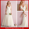 WD-2352 Delicate illusion back wedding dress lace straps sexy plunging neckline wedding dress