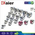 Daier 16mm alumínio cor preta 6v anel azul, vermelho, amarelo, verde, led ip67 momentânea led metal interruptor de tecla com fio trancando