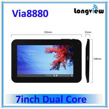 cheap dual core 2800mah battery 7 inch 8880 tablet pc