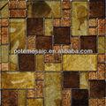 أوراق الذهب كريستال بلاطة فسيفساء الزجاج مختلطة pt-mh2 الحائط ورق الحائط الزخرفية