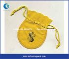 Lemon velvet gift bag with custom logo