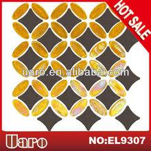 Mixture material ceramic glass mosaic kitchen wall tiles