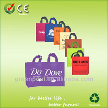 2015 eco-friendly non woven fabrics shopping bag with printed