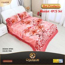 4PCS romantic blanket bedding sets