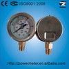 40mm bottom oil filled ss case sight glass level gauge