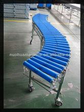 gravity plastic roller flexible transport conveyor system