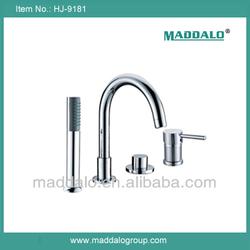 China Manufacturer Bathroom Side Mounted 4 hole bath filler
