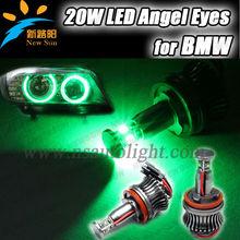 2014 H8 led angel eyes 12v input led marker angel eyes white/blue/red/green/yellow angel eyes motorcycle headlight canbus