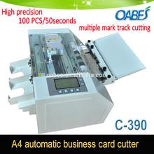Automatic business card cutter high precision name card cutting machine multiple track mark cutting machine