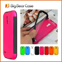 Full protection leather flip case for samsung galaxy s4 mini i9190