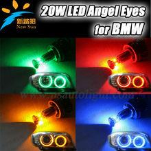 High Quality 12V H8 20W Angel Eye for BMW E90 E91 E92 E39 E53 E65 E66 E60 E61 E63 E64 E87 F01 X5 X3 X1 LED Ring Angel Eye