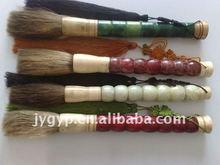 deluxe natural jade writing brush, calligraphy brush pen