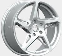 white alloy wheel 5 lugs (ZW-X458)