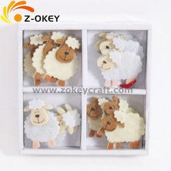 Sheep shape felt crafts fridge magnet
