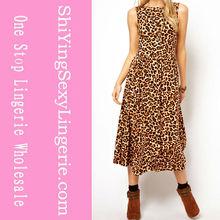 Fashionable Leopard Maxi Dress