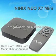 Original 2014 Newest Version MINIX NEO X7 mini TV Android 4.2 Quad Core 1.6GHz Bluetooth HDMI 2GB RAM 8GB ROM