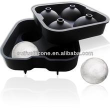2014 más populares de whisky esfera moldes de hielo, de hielo de silicona molde de la bola, de hielo reutilizables moldes de la escultura