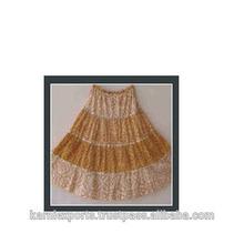 Kids wear beautiful long skirts in tie & dye fabric pattern digital printed
