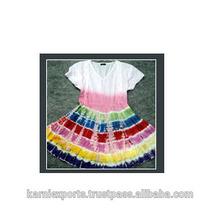 Latest beautiful party wear skirts & frocks & tops garment / tie & dye printed nice baby girls skirts