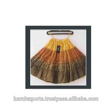 Tie & dye Knee long skirts for kids wear / Fock dancing skirts for girls