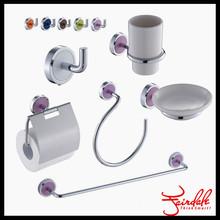 Funny Unique 6pcs purple bathroom accessories set
