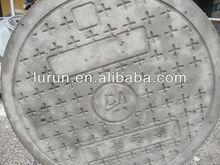 China Competitive High Quality Square Grey Polymer Concrete Manhole Cover Manufacturer Dia.600mm