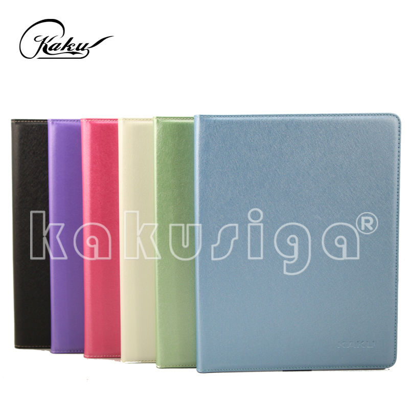 Tablet case for ipad pure color 360 degree rotating PU leather case for iPad tablet