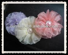 Lady Organza Pearl Center Flower, Lady Ornament, Bridal Hair Decoraton