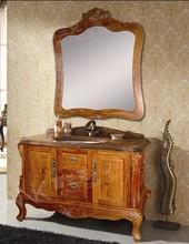 Frank 48 inch rosewood Antique High-end Bathroom furniture cabinet F-4088