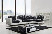 Modern recliner sofa set, white leather recliner sofa