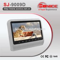 "Shenzhen Manufacturer 9"" car headrest mount portable dvd player"