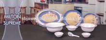 Supreme round shape melamine dinner set
