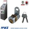 Security brass ATM pin cam lock
