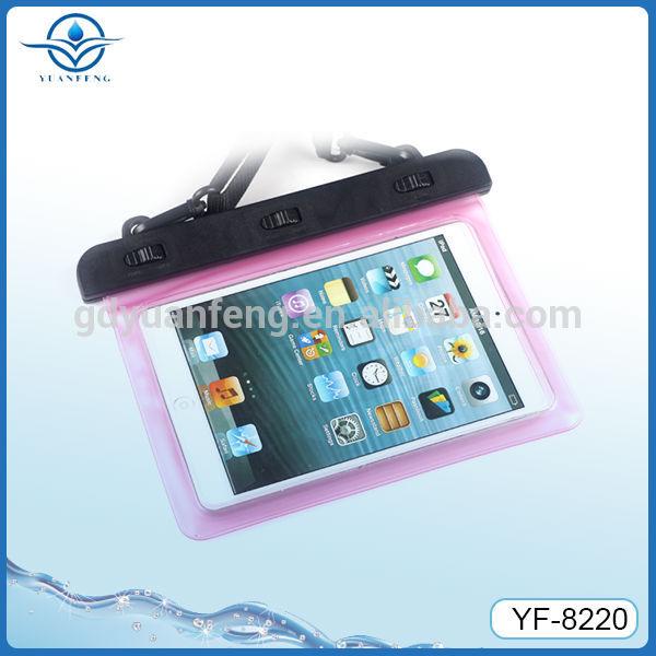 Hot Selling waterproof bag for Ipad mini in swimming diving