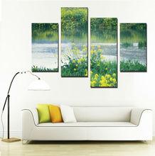 2014 Scenery Canvas Paintings Riverside