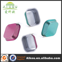 Microwavable oven safe aluminum food container with lid