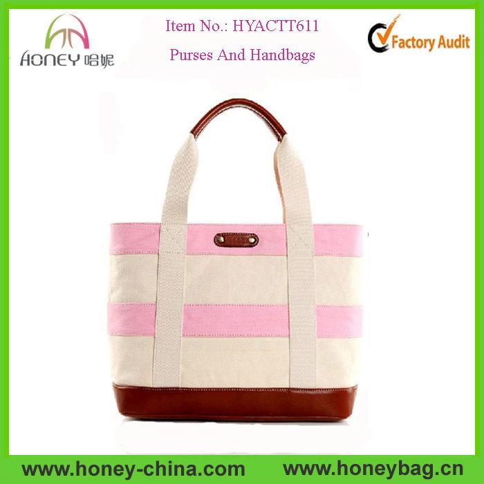 2014 Newest Ladies Fashion Color Match Canvas Womens Handbag Womens Bags 2014