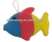 2014 hot fish shaped bath sponge