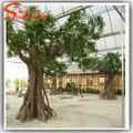 tree preço máquina de corte de grande porte artificial decorativa da árvore de fibra de vidro com tronco de árvore